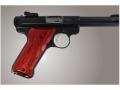 Hogue Extreme Series Grip Ruger Mark II, Mark III Flames Aluminum Red