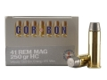 Cor-Bon Hunter Ammunition 41 Remington Magnum 250 Grain Hard Cast Lead Flat Point Box of 20