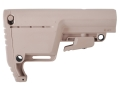 Mission First Tactical Battlelink Utility Low Profile Collapsible Buttstock Commercial Diameter AR-15, LR-308 Polymer Flat Dark Earth