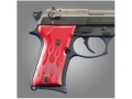 Hogue Extreme Series Grip Beretta 92FS Compact Flames Aluminum Red