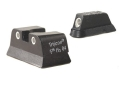 Trijicon Night Sight Set CZ 75, CZ99 with Front Dovetail Steel Matte 3-Dot Tritium Green