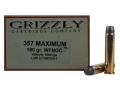 Grizzly Ammunition 357 Maximum 180 Grain Wide Flat Nose Gas Check Box of 20