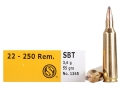 Sellier & Bellot Ammunition 22-250 Remington 55 Grain Sierra GameKing Spitzer Boat Tail Box of 20