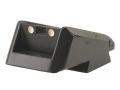 Novak Adjustable Extreme Duty LoMount Carry Rear Sight 1911 Standard Rear Cut Steel Black with White Dots