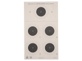NRA Official Smallbore Rifle Targets A-23/5 50-Yard Paper Package of 100