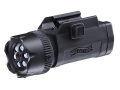 Walther Night Force Flashlight LED with Laser Sight with 3 AAA Batteries with Rail Mount Polymer Matte