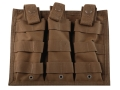 Spec.-Ops. X-3 MOLLE Compatible Triple Magazine Shingle AR-15 Nylon Coyote Brown