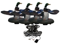 Higdon Floating Flasher 2 Plug N Hunt Drake 4 Unit Hard Wired Motion Duck Decoy System