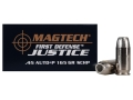 Product detail of Magtech First Defense Justice Ammunition 45 ACP +P 165 Grain Solid Copper Hollow Point Lead-Free Box of 20