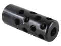 Gentry Quiet Muzzle Brake 284 Caliber, 7mm 1/2&quot;-28 Thread .750&quot; Outside Diameter x 1.94&quot; Length Chrome Moly Blue