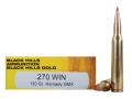 Product detail of Black Hills Gold Ammunition 270 Winchester 130 Grain Hornady GMX Lead-Free Box of 20