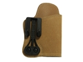 "Blackhawk Tuckable Holster Inside the Waistband 2"" Barrel 5 shot Revolver Leather Tan"