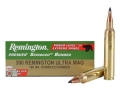 Remington Premier Power Level 3 Ammunition 300 Remington Ultra Magnum 180 Grain Swift Scirocco Polymer Tip Box of 20