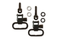 GrovTec Sling Swivel Studs with 1&quot; Locking Swivels Set with Wood Screw Forend Steel Black