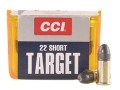 CCI Target Ammunition 22 Short 29 Grain Lead Round Nose Case of 5000 (50 Boxes of 100)