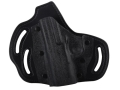 DeSantis Intimidator Outside the Waistband Holster Left Hand Kahr PM45 Kydex and Leather Black