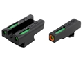 TRUGLO TFX Pro Sight Set Walther PPS Tritium / Fiber Optic Green with Orange Front Dot Outline
