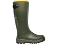 "LaCrosse Alphaburly Pro 18"" Waterproof Uninsulated Hunting Boots Rubber Clad Neoprene Forest Green Men's"