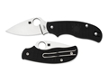 "Spyderco Urban Leaf Folding Pocket Knife 2.563"" Drop Point N690Co Blade FRN Handle Black"