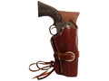 "Product detail of Triple K 114 Cheyenne Western Holster Right Hand Colt Single Action Army, Ruger Blackhawk, Vaquero 5.5"" Barrel Leather Brown"