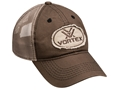 Vortex Frayed Patch Mesh Back Logo Cap Brown Cotton/Nylon