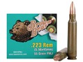 Brown Bear Ammunition 223 Remington 55 Grain Full Metal Jacket (Bi-Metal) Box of 20