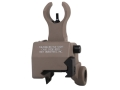 Troy Industries Front Flip-Up Battle Sight HK-Style AR-15 Gas Block Height Aluminum Flat Dark Earth