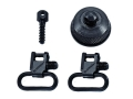 BlackHawk Lok-Down Sling Swivel Set Remington 870 Express with Internal Ratchet 1&quot; Steel Blue