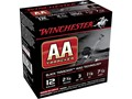 "Winchester AA Heavy TrAAcker Ammunition 12 Gauge 2-3/4"" 1-1/8 oz #7-1/2 Shot Black Wad"