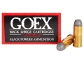 Product detail of Goex Black Dawge Black Powder Ammunition 44 Special 205 Grain Lead Flat Point Box of 50