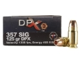 Cor-Bon DPX Ammunition 357 Sig 125 Grain DPX Hollow Point Lead-Free Box of 20