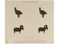 NRA Official Pistol Target TQ-13 50' Turkey and Ram Silhouette Paper Package of 100