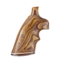 Hogue Fancy Hardwood Grips with Accent Stripe and Top Finger Groove Dan Wesson Small Frame Cocobolo