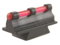 "Williams Fire Sight Rifle Bead .312"" Height, .250"" Width Steel Blue 3/32"" Fiber Optic Red"