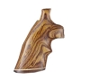 Hogue Fancy Hardwood Grips with Accent Stripe and Top Finger Groove Ruger Redhawk Cocobolo