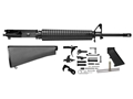 "Del-Ton Rifle Kit AR-15 5.56x45mm NATO 1 in 9"" Twist 20"" Barrel Upper Assembly, Lower Parts Kit, A2 Buttstock"