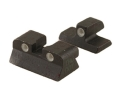 Meprolight Tru-Dot Sight Set Browning Hi-Power Mark III Steel Blue Tritium Green