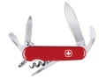 Wenger Swiss Army Commander Folding Knife 11 Function Swiss Surgical Steel Blades Polymer Scales Red