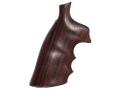 Hogue Fancy Hardwood Grips with Finger Grooves S&amp;W N-Frame Square Butt Rosewood