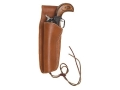 "Hunter 1060 Frontier Holster Left Hand Colt Single Action Army, Ruger Blackhawk, Vaquero 4-.75"" to 5.5"" Barrel Leather Brown"