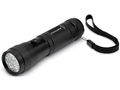 Cyclops 12 Multi Color Red, Green and White LED Flashlight with AAA Battery Aluminum Black Package of 2