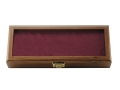 "KA-BAR Commemorative Knife Display Case 14.875"" x 5.875"" Walnut with Red Interior"