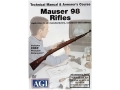 Product detail of American Gunsmithing Institute (AGI) Technical Manual &amp; Armorer&#39;s Course Video &quot;Mauser 98 Rifles&quot; DVD