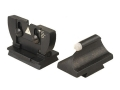 "Product detail of Lyman Muzzleloader Sight Set, White Bead Front, Folding Leaf Rear .360"" Dovetail Steel Blue"