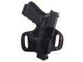 El Paso Saddlery High Slide Outside the Waistband Holster Right Hand Glock 17, 22, 31  Leather Black