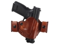 El Paso Saddlery Snap Off Compact Thumb Break Outside the Waistband Holster Right Hand Springfield XD 9/40 Leather Russet Brown