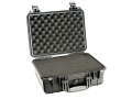 "Pelican 1450 Pistol Gun Case with Pre-Scored Foam Insert 16"" x 13"" x 7"" Polymer Black"
