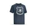 Leupold Men's L&S Logo T-Shirt Short Sleeve Cotton/ Polyester Blend Navy Heather