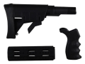 Advanced Technology Strikeforce Buttstock Assembly 6-Position Collapsible Commercial Diameter AR-15 with 2-Piece Handguard 8-Rail Carbine Length and Pistol Grip Polymer Black