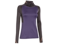 Under Armour Women's ColdGear Infrared Wool Cozy-Neck Base Layer Shirt Polyester and Wool Blend Twilight Purple and Steeple Gray